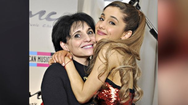 PHOTO: Singer Ariana Grande poses with her mother Joan, left, in the Music Choice Lounge backstage at the 2013 American Music Awards in Los Angeles on Nov. 24, 2013.
