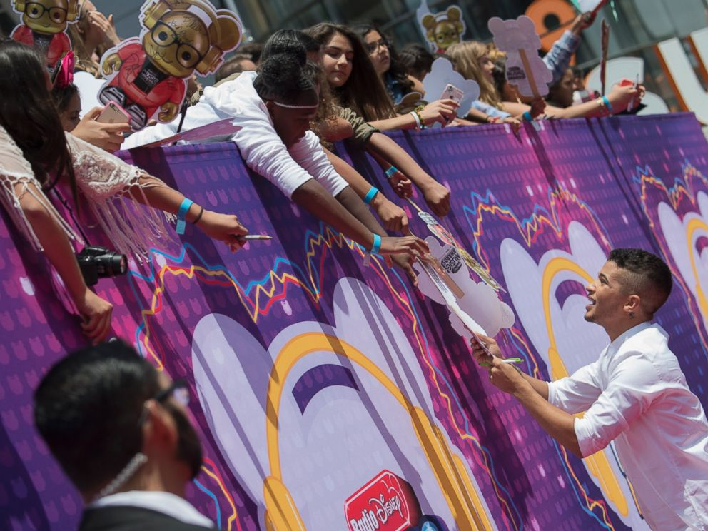 PHOTO: Entertainments brightest young stars, including Jordan Fisher, right, turned out for the 2016 Radio Disney Music Awards, musics biggest event for families at Microsoft Theater in Los Angeles on April 30, 2016.