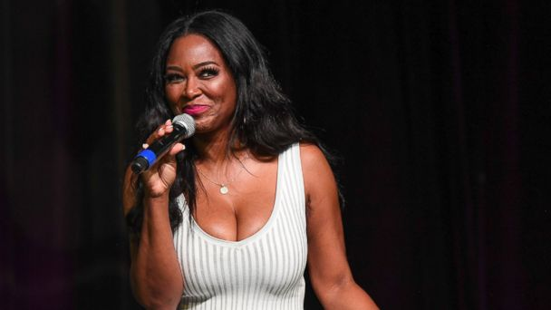 PHOTO: TV personality Kenya Moore speaks onstage at Atlanta Ultimate Women's Expo 2017 at Georgia World Congress Center, June 3, 2017, in Atlanta.