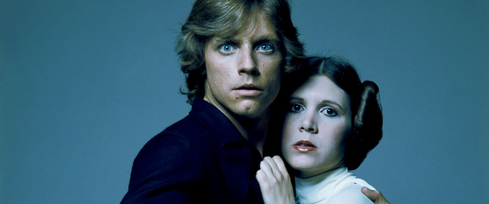 PHOTO: American actors Mark Hamill and Carrie Fisher in costume as ...