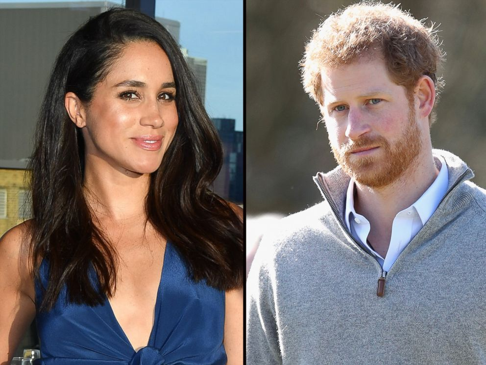 PHOTO: Actress Meghan Markle, left, and Prince Harry, right.