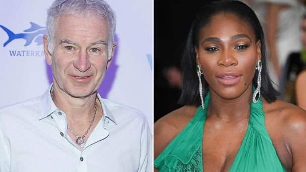 PHOTO: John McEnroe, attends 2017 Art For Water To Benefit Waterkeeper Alliance at Sotheby's, on Feb. 6, 2017, in New York City | Serena Williams attends the Costume Institute Gala at the Metropolitan Museum of Art, on May 1, 2017, in New York City.
