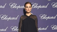 Natalie Portman Hits the Carpet in Flowing Black Dress