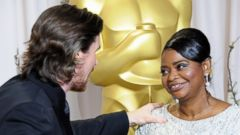"PHOTO: Actress Octavia Spencer accepts the Best Supporting Actress Award for ""The Help"" onstage during the 84th Annual Academy Awards held at the Hollywood & Highland Center, on Feb. 26, 2012, in Hollywood, California."