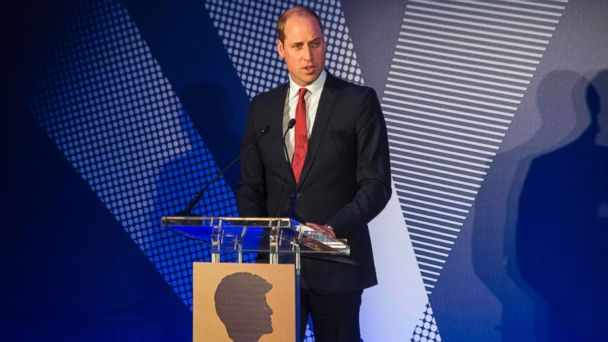 PHOTO: Britain's Prince William, Duke of Cambridge, speaks during a ceremony to present the inaugural Legacy Awards on behalf of the Diana Award to twenty young recipients at St James' Palace, on May 18, 2017.