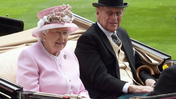 PHOTO: Queen Elizabeth II and Prince Philip, Duke of Edinburgh arrive in an open carriage to attend Day 2 of Royal Ascot, on June 15, 2016, in Ascot, England.