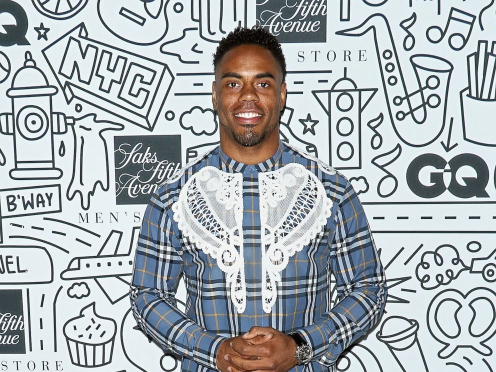 PHOTO: Football running back Rashad Jennings attends the Saks Downtown Mens opening at Saks Downtown Mens, Feb. 22, 2017, in New York.