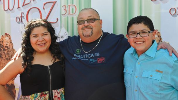 PHOTO: Actress Raini Rodriguez, father Roy Rodriguez, and actor Rico Rodriguez attend the world premiere of