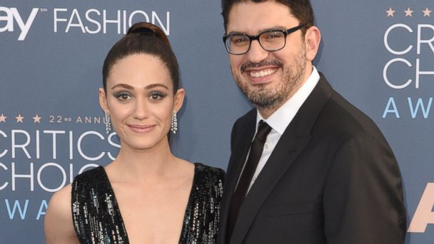 PHOTO: Emmy Rossum and Sam Esmail arrive at the The 22nd Annual Critics' Choice Awards at Barker Hangar, on Dec. 11, 2016, in Santa Monica, Calif.