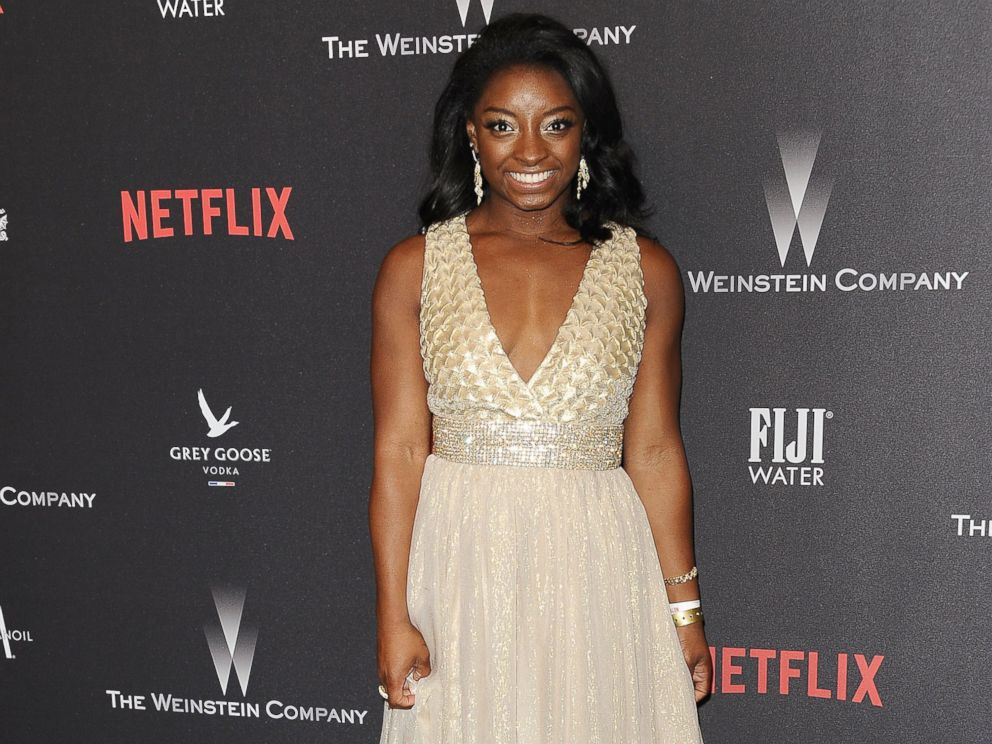 PHOTO: Simone Biles attends the 2017 Weinstein Company and Netflix Golden Globes after party, Jan. 8, 2017, in Los Angeles, Calif.