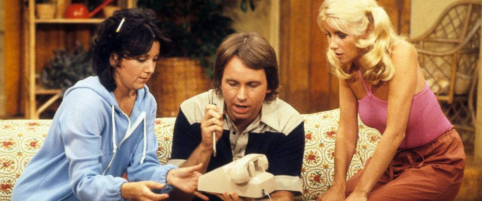 "PHOTO: Joyce Dewitt, Suzanne Somers and John Ritter in the television sitcom, ""Threes Company,"" in the episode, ""Good Old Reliable Janet"" which aired on Sept. 19, 1978."
