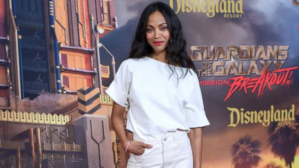 PHOTO: Zoe Saldana attends the grand opening of Guardians of The Galaxy, May 25, 2017, at Disney's California Adventure in Disneyland in Anaheim, Calif.
