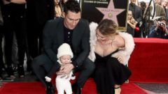 Adam Levine Celebrates His Hollywood Star With His Wife and Daughter