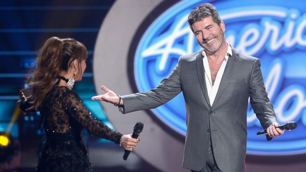 PHOTO: Judges Paula Abdul and Simon Cowell speak onstage during FOX's