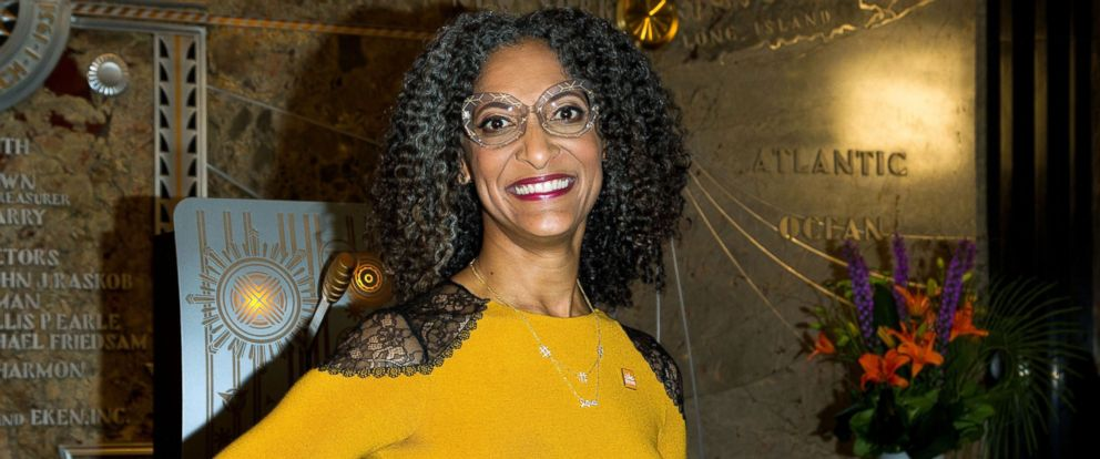 "PHOTO: ""The Chew"" Co-Host Carla Hall lights the Empire State building for the Food Bank of New York City in honor of the 11th Annual Go Orange To End Hunger Campaign at The Empire State Building, Sept. 28, 2016, in New York City."