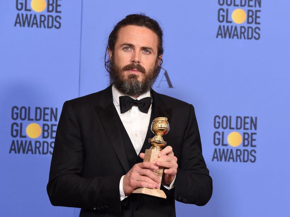 PHOTO: Casey Affleck poses in the press room at the 74th Annual Golden Globe Awards held at the Beverly Hilton Hotel, Jan. 8, 2017.