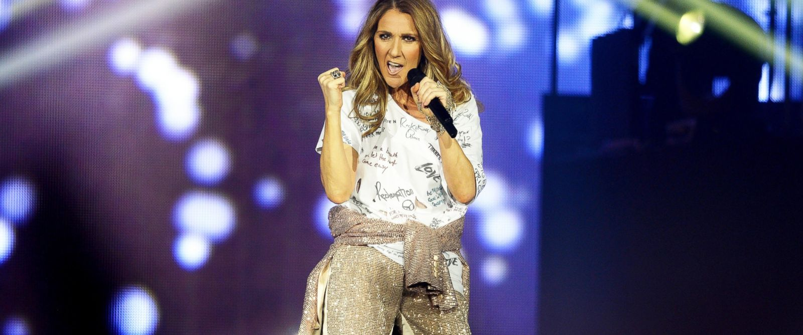 """PHOTO: Celine Dion performs during the opening night of her """"Celine Dion Live 2017"""" tour, June 15, 2017, in Copenhagen."""