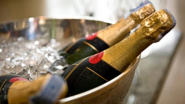 PHOTO: Champagne bottles.