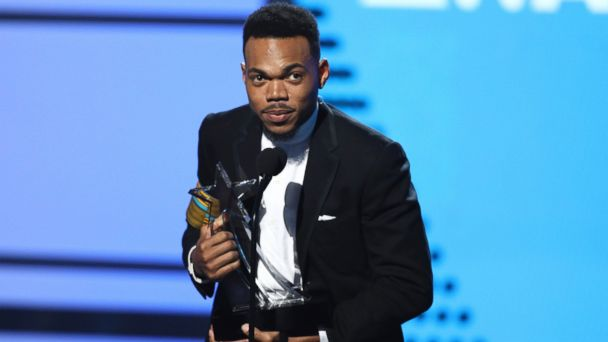 PHOTO: Chance The Rapper accepts the humanitarian award at the BET Awards at the Microsoft Theater, June 25, 2017, in Los Angeles.