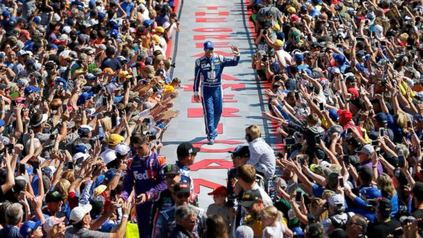 PHOTO: Dale Earnhardt Jr., driver of the #88 Nationwide Chevrolet, waves to the crowd during driver introduction before the 59th Annual DAYTONA 500 at Daytona International Speedway on February 26, 2017, in Daytona Beach, Florida.