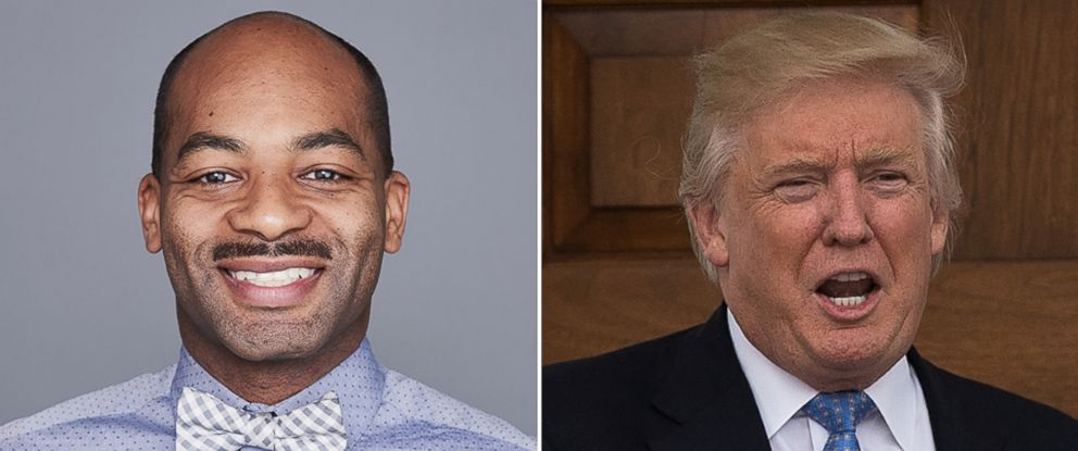 PHOTO: Brandon Victor Dixon in New York, May 4, 2016, and Donald Trump in Bedminster County, New Jersey, Nov. 20, 2016.