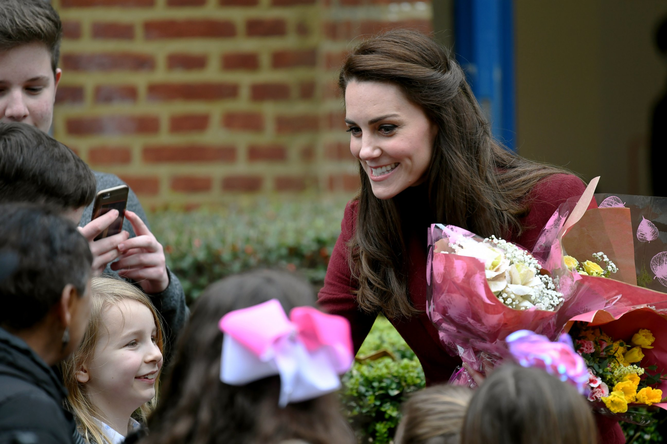 Duchess Kate met with children at her new charity