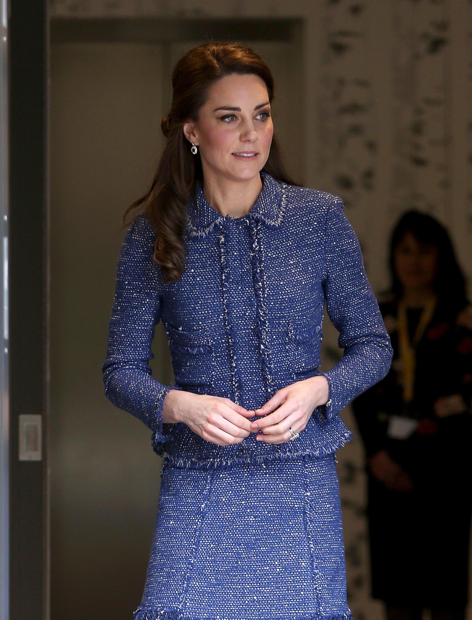 Duchess Kate visits a hospital
