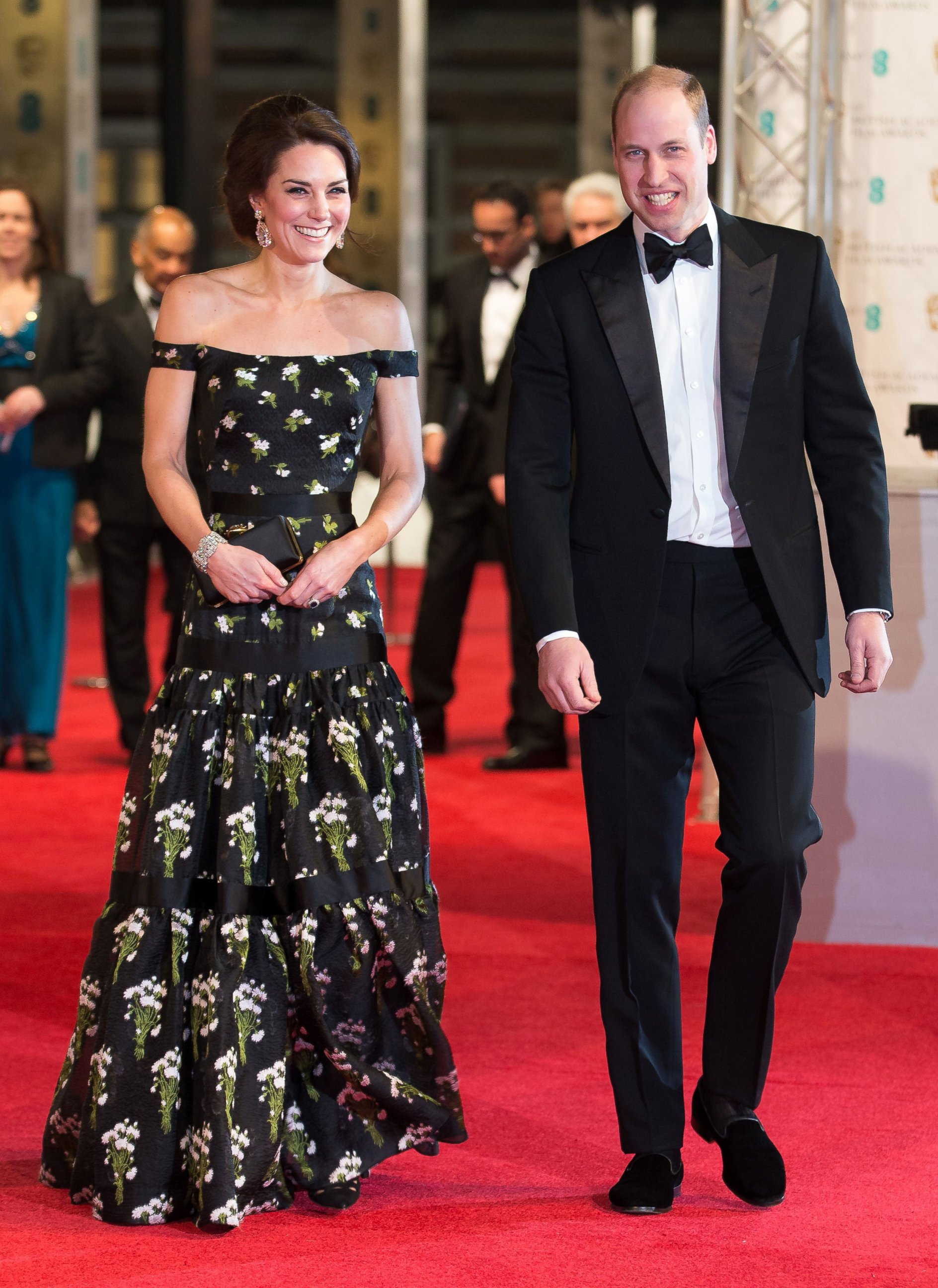 Prince William and Duchess Kate Attend the BAFTAs