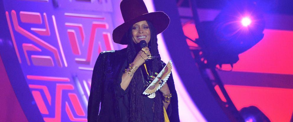 PHOTO: Host Erykah Badu speaks onstage during the 2016 Soul Train Music Awards at the Orleans Arena, Nov. 6, 2016 in Las Vegas.