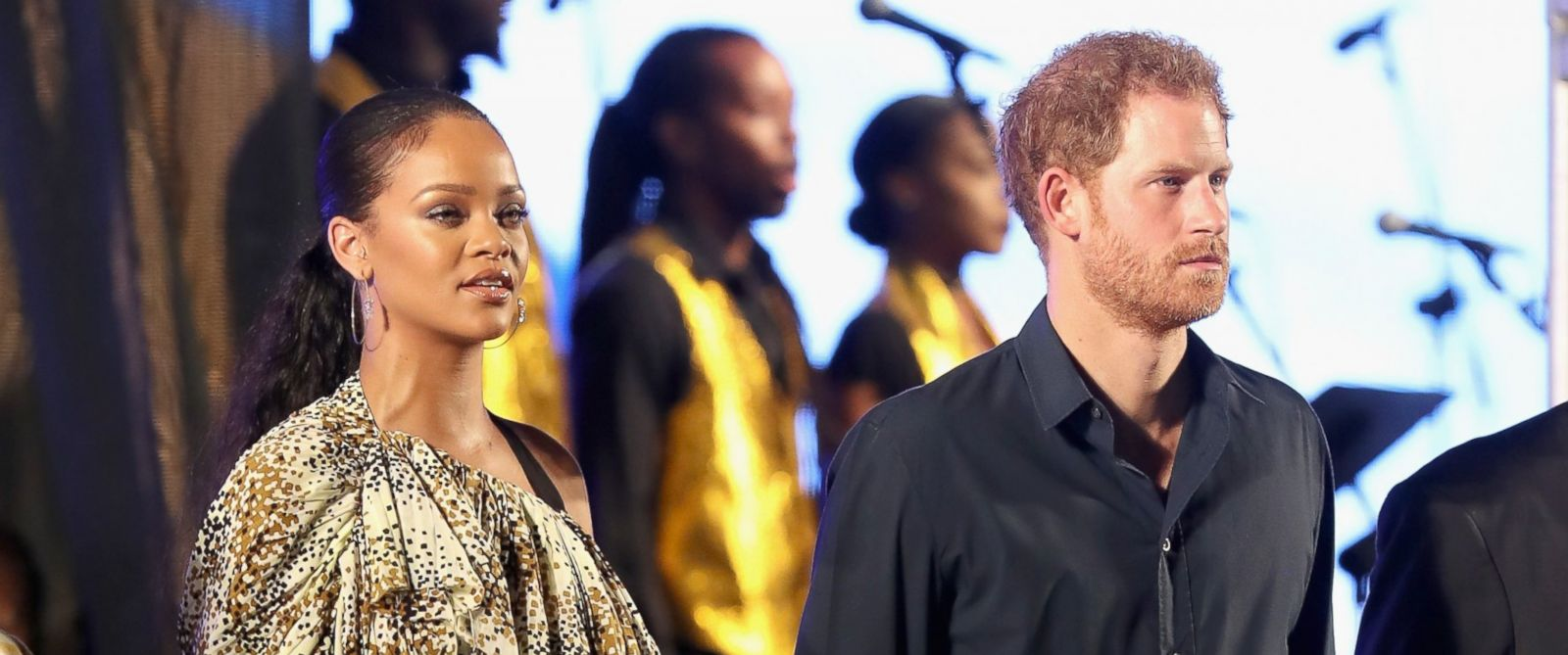 PHOTO: Prince Harry and Rihanna attend a Golden Anniversary Spectacular Mega Concert, Nov. 30, 2016, in Bridgetown, Barbados.