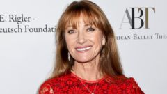 Jane Seymour Attends the Ballet in Red