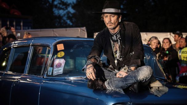 PHOTO: Actor Johnny Depp introduces his film