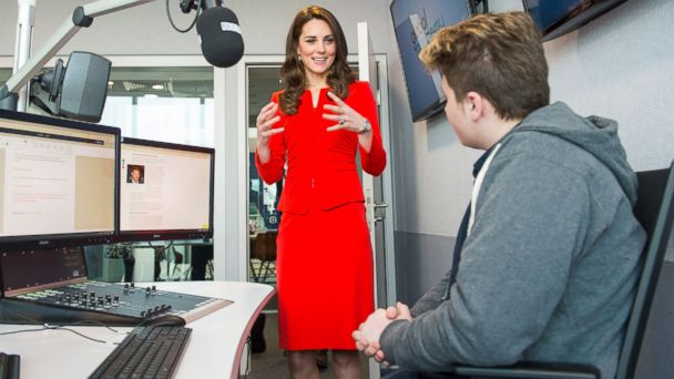 PHOTO: Duchess Kate attends the official opening of The Global Academy in support of Heads Together at The Global Academy, April 20, 2017, in Hayes, England.
