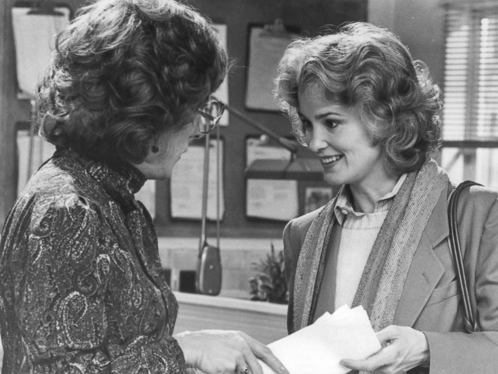 PHOTO: Dustin Hoffman looks at Jessica Lange in a scene from the film Tootsie, in 1982.