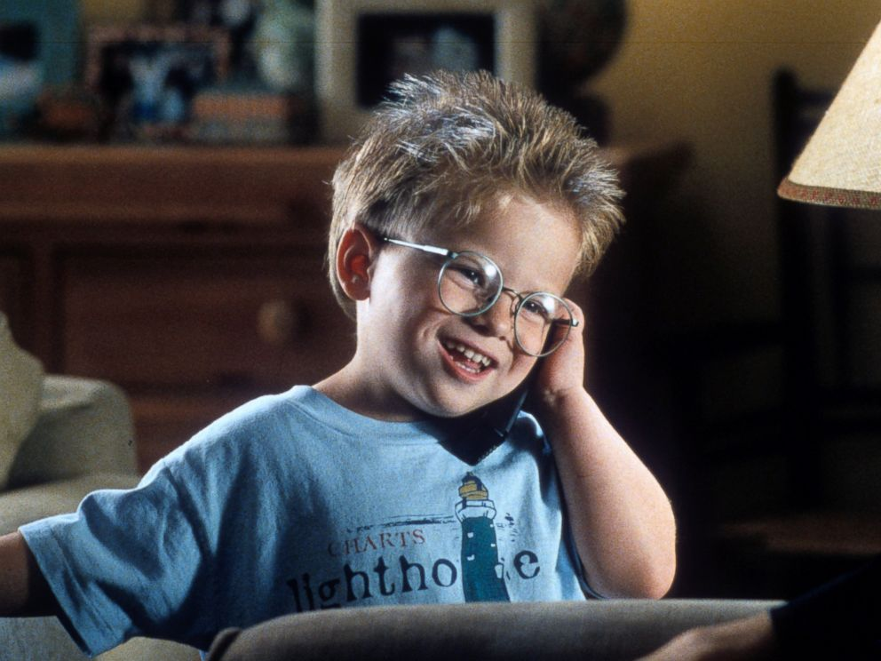 PHOTO: Jonathan Lipnicki talks on a phone in a scene from the film Jerry Maguire, in 1996.