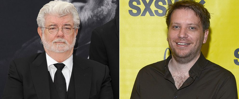 PHOTO: George Lucas, left, and Gareth Edwards
