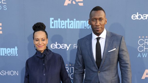 PHOTO: Mahershala Ali and wife Amatus Sami-Karim arrive at The 22nd Annual Critics' Choice Awards at Barker Hangar, Dec. 11, 2016, in Santa Monica, Calif.