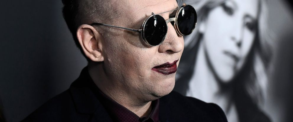 """PHOTO: Marilyn Manson attends the Premiere of Drafthouse Films """"We Are X"""" at TCL Chinese Theater on Oct. 3, 2016 in Hollywood, California."""
