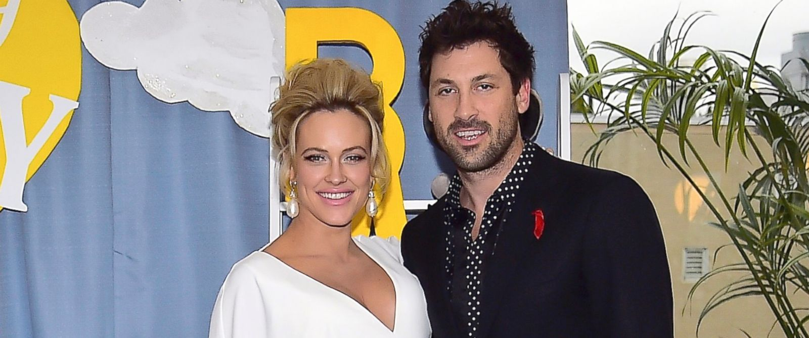 PHOTO: Peta Murgatroyd, Maksim Chmerkovskiy at The McCarren Hotel, Dec. 18, 2016, in Brooklyn, New York.