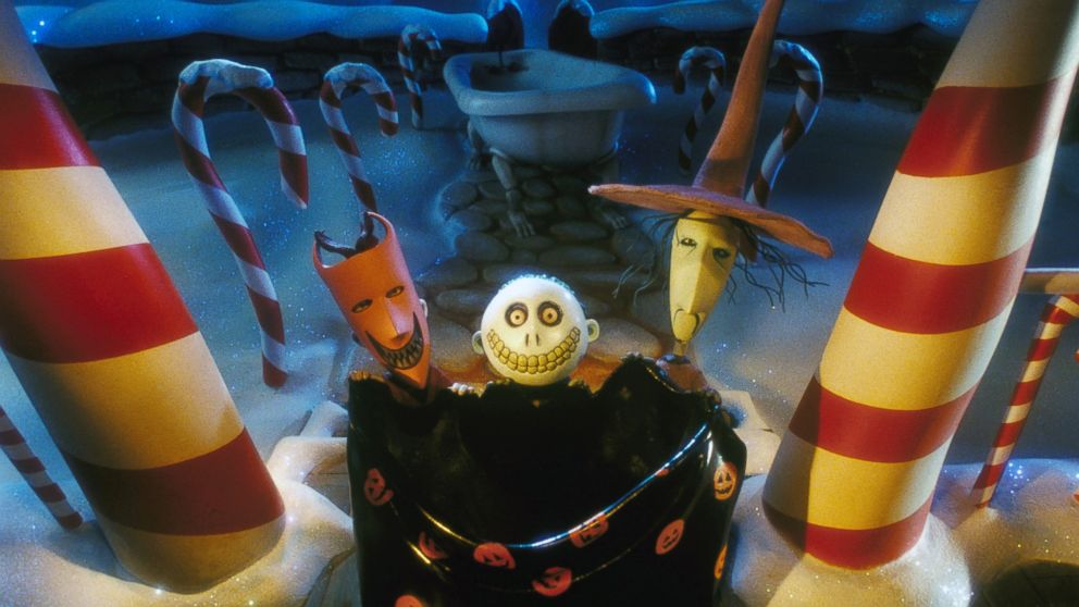 PHOTO: The set of 'The Nightmare Before Christmas,' is pictured.