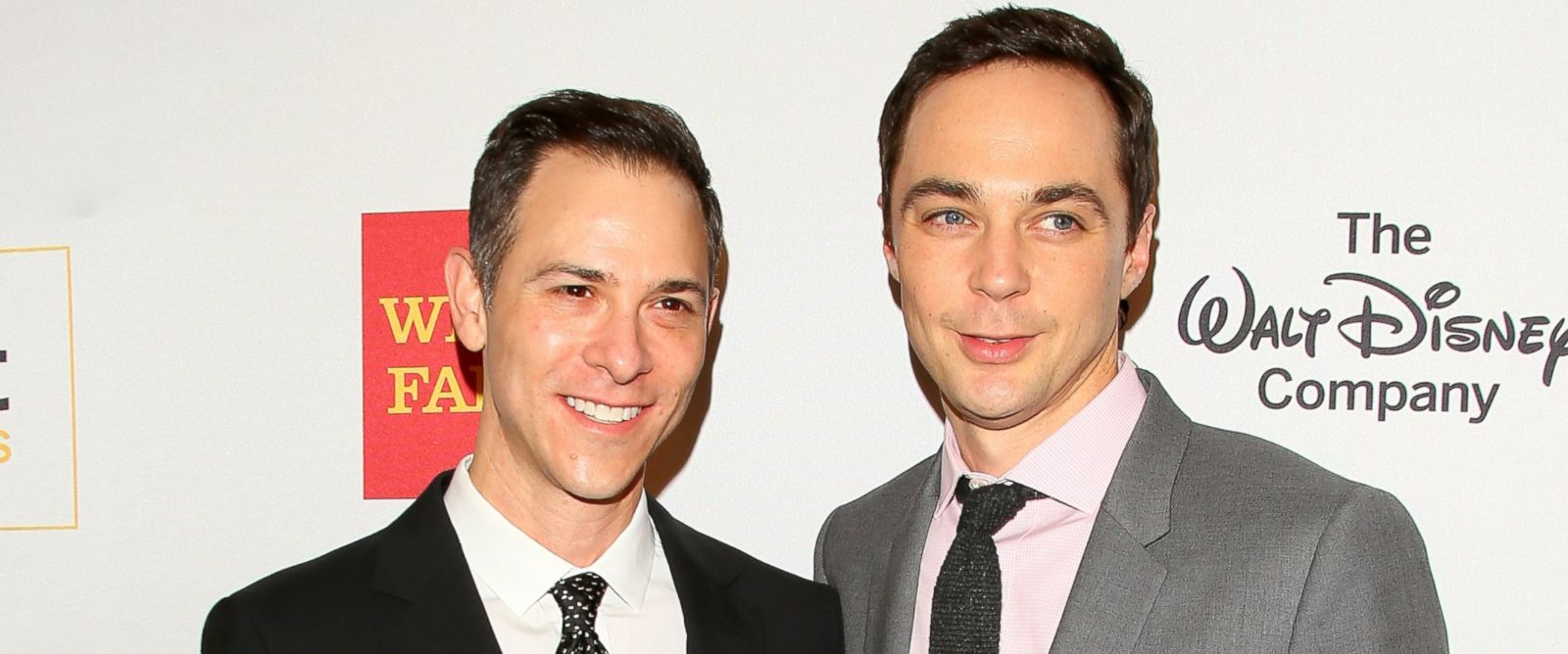 PHOTO: Todd Spiewak, left, and Jim Parsons attends the 2016 GLSEN Respect Awards, Oct. 21, 2016, in Los Angeles.
