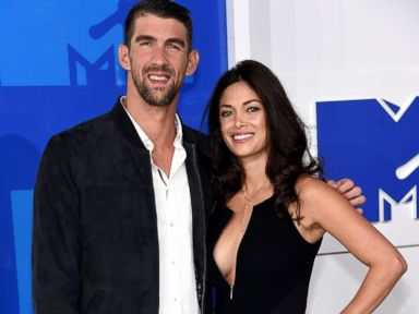 PHOTO: Olympian Michael Phelps and finace Nicole Johnson attend the 2016 MTV Video Music Awards at Madison Square Garden, Aug. 28, 2016, in New York City.