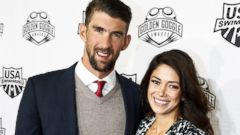 Michael Phelps Hits the Red Carpet With His Wife and Son