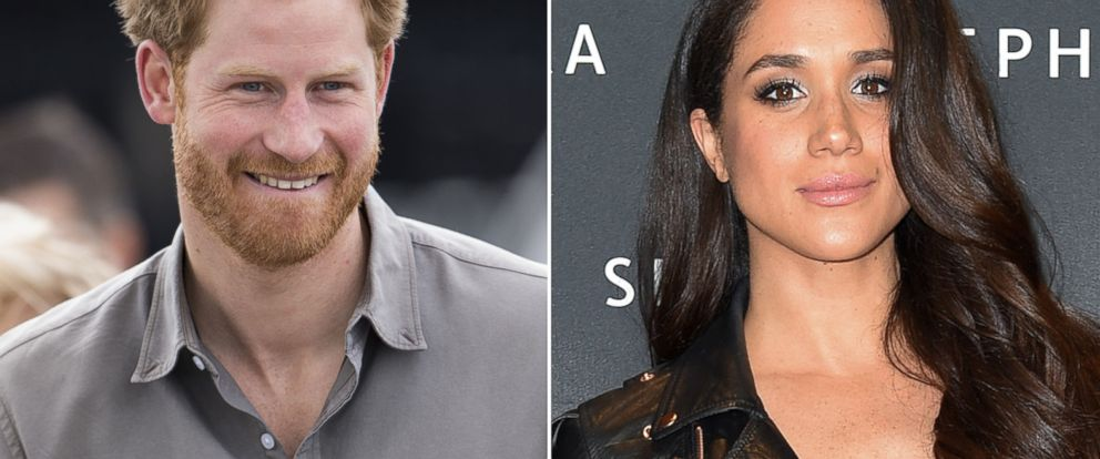 PHOTO: Prince Harry in Wigan, England, July 5, 2016 and Meghan Markle in Toronto, May 19, 2016.