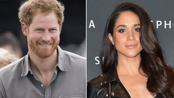 PHOTO: Pictured (L-R) are Prince Harry in Wigan, England, July 5, 2016 and Meghan Markle in Toronto, May 19, 2016.
