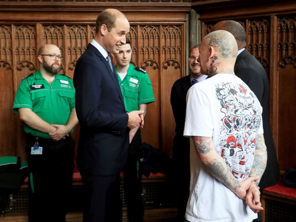 Prince William meets with Manchester first responders and victims