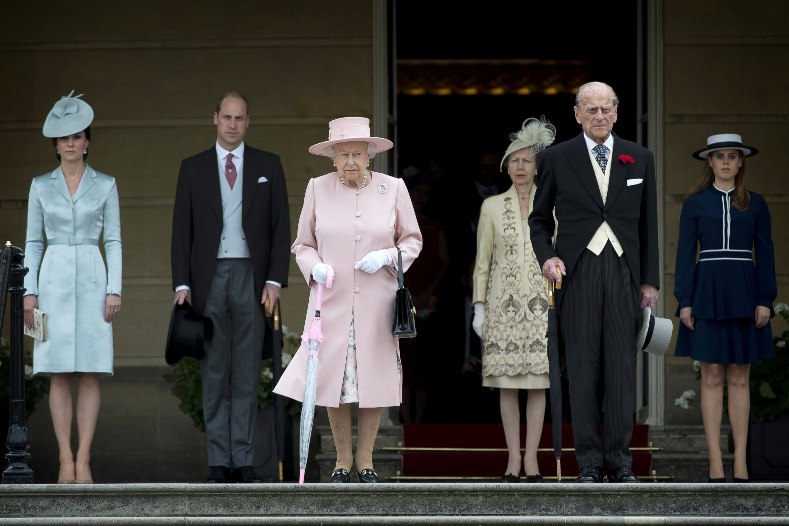 The royal family steps out in London