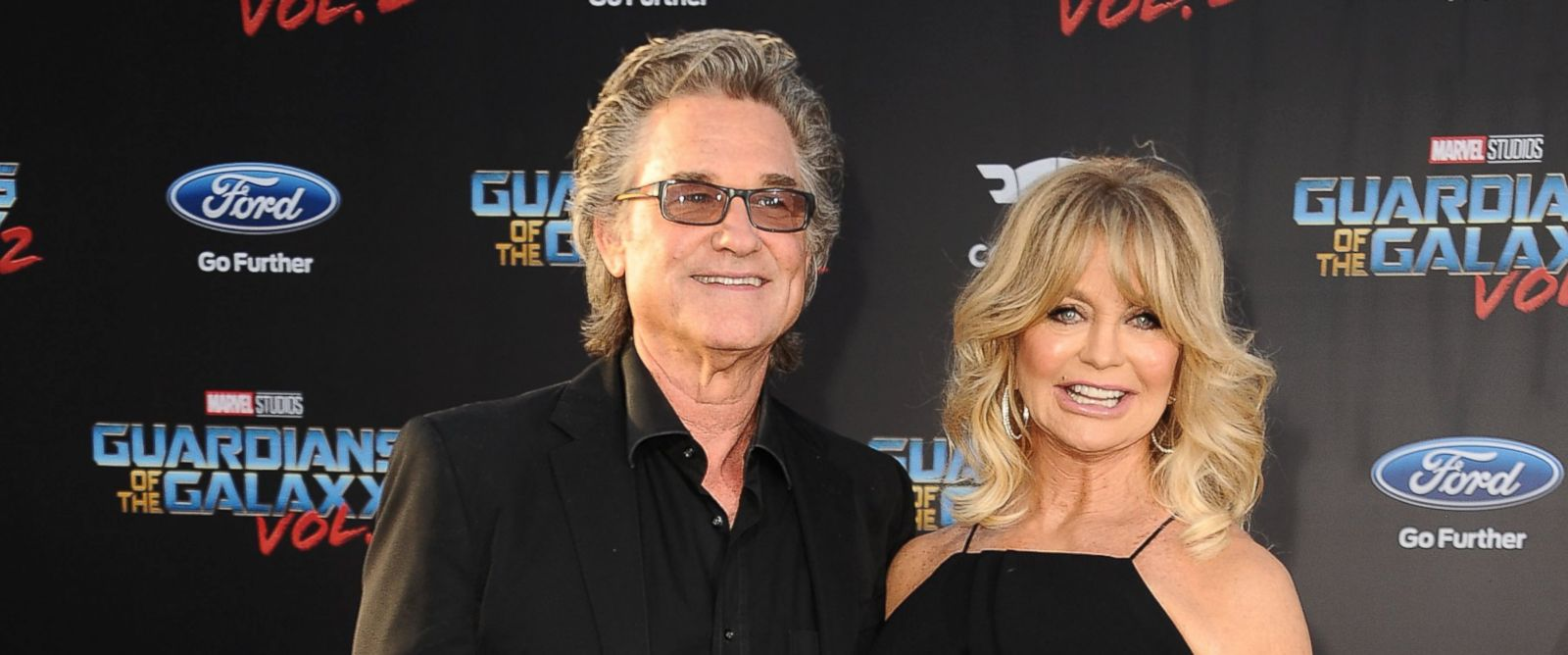 """PHOTO: Kurt Russell and Goldie Hawn attend the premiere of """"Guardians of the Galaxy Vol. 2"""" at Dolby Theatre, April 19, 2017, in Hollywood."""