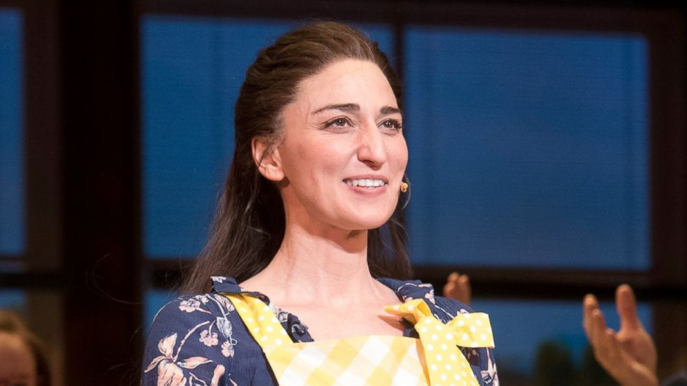 PHOTO: Sara Bareilles performs onstage during the curtain call for Broadway's