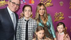 Matthew Broderick and Sarah Jessica Parker take their family to a show